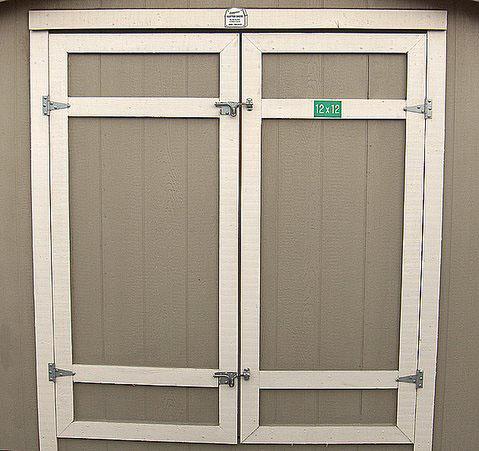 Custom shed doors