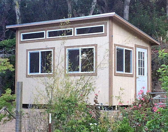 California Custom Sheds 10x14 Shed Roof