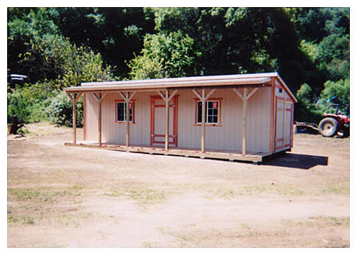 California Custom Sheds 10x30 Shed Roof Style
