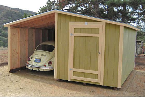 8x14 Metal Carport : California custom sheds shed roof