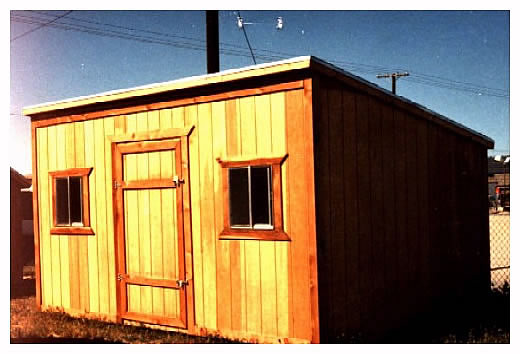 California Custom Sheds 8x16 Shed Roof