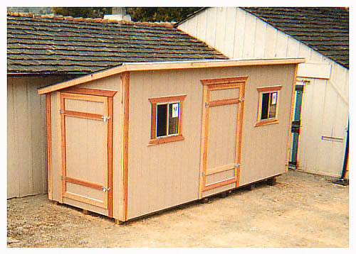 California Custom Sheds 14x6 Shed Roof