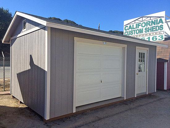 California Custom Sheds Garage Doors
