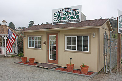 California custom sheds our 20x10 truss package office for Build your own backyard office