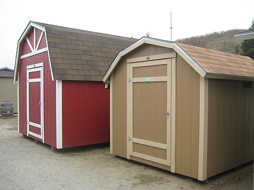 California Custom Sheds Gambrel Roof Comparison