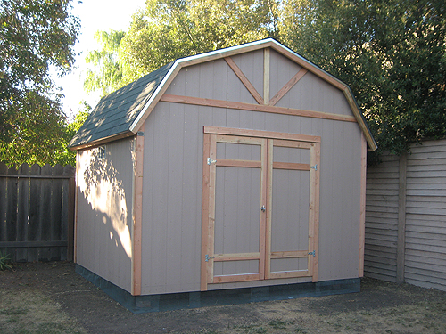 Shed or metal building ideas for Gambrel roof metal building