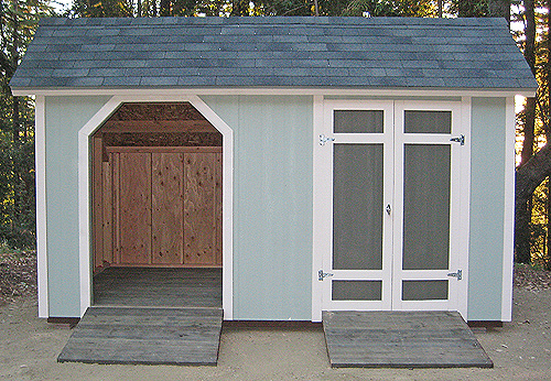 California Custom Sheds 8x14 Woodcutter Roof Package
