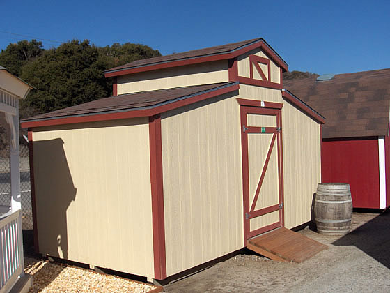 California custom sheds 8x16 ponderosa style roof for Shed styles