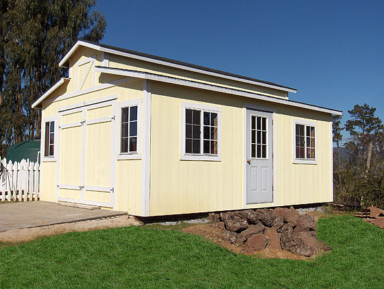 California Custom Sheds 14x20 Ponderosa Style Roof