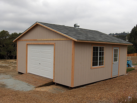California Custom Sheds 20x20 Truss Package
