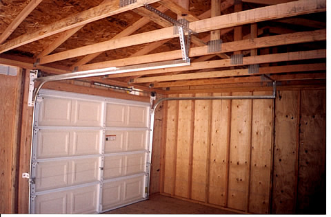 garage door for shedCalifornia Custom Sheds  inside 16x24 with Truss Package