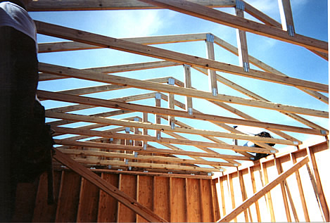 California custom sheds inside truss package for Truss package cost
