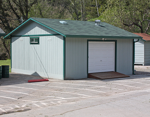 & Rec uses California Custom Sheds to help with their storage needs