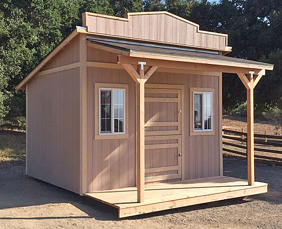 24 popular western style storage sheds for Shed styles